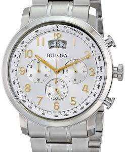Bulova Chronograph Silver Dial 96B201 Mens Watch