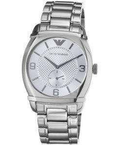 Emporio Armani Classic Silver Textured Dial AR0339 Mens Watch