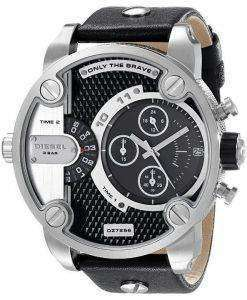 Diesel Little Daddy Chronograph Dual Time Black Dial DZ7256 Mens Watch