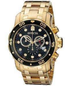 Invicta Pro-Diver Chronograph Gold Tone 200M INV0072/0072 Mens Watch