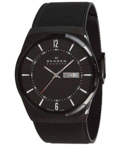 Skagen Melbye Black Titanium Case with Mesh Band SKW6006 Mens Watch