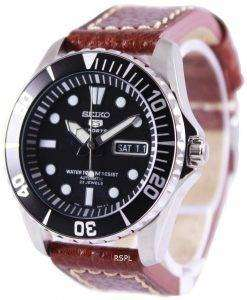 Seiko 5 Sports Automatic Ratio Brown Leather SNZF17K1-LS1 Mens Watch