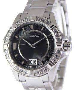 Seiko Quartz Crystals Black Dial SUR807P1 SUR807P Women's Watch