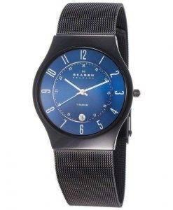 Skagen Titanium Marine Blue Dial Mesh Strap T233XLTMN Mens Watch