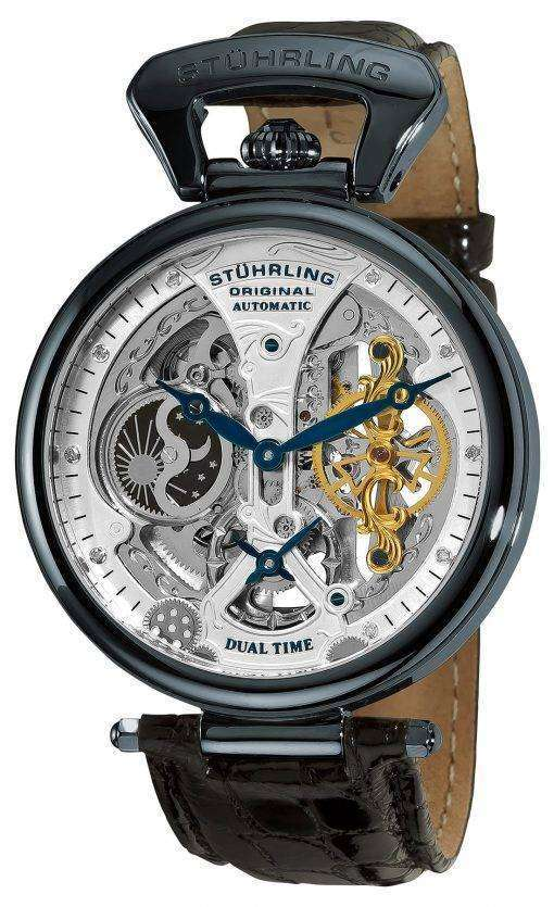 Stuhrling Original Emperor's Grand DT Automatic Dual Time 127A2.33X52 Mens Watch