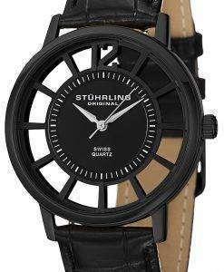 Stuhrling Original Winchester Del Sol Swiss Quartz Black Dial 388S.33551 Mens Watch
