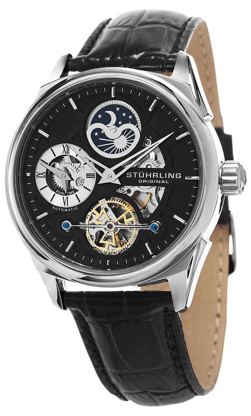 Stuhrling Original Special Reserve Delphi Dual Time 657.02 Mens Watch