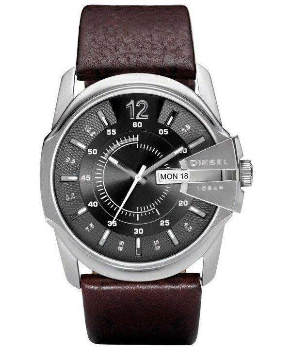 Diesel Master Chief Quartz Brown Leather DZ1206 Mens Watch