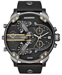Diesel Mr. Daddy 2.0 Black Dial Black Leather DZ7348 Mens Watch