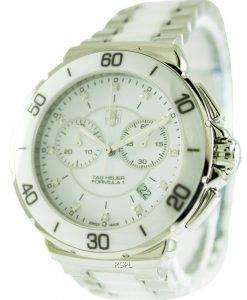 Tag Heuer Formula One Chronograph Diamond White Dial CAH1211.BA0863 Women's Watch