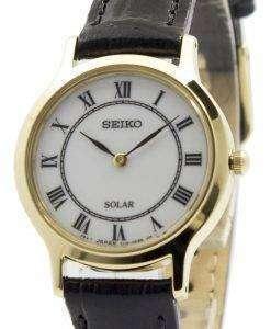 Seiko Solar White Dial Leather Strap SUP304P1 SUP304P Womens Watch