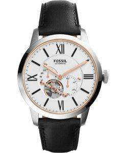 Fossil Townsman Automatic Black Leather Strap ME3104 Mens Watch