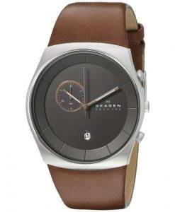 Skagen Havene Chronograph Quartz Leather Strap SKW6085 Mens Watch
