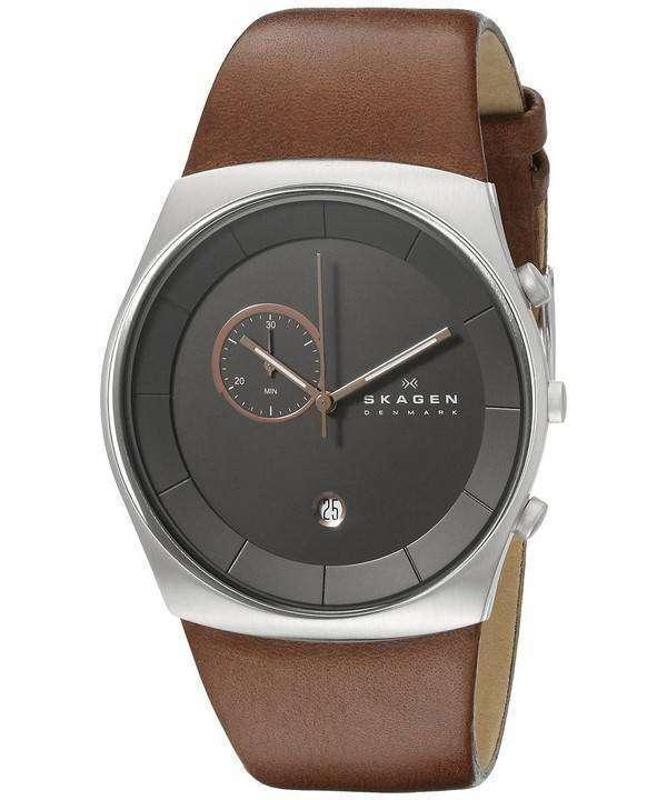 Skagen Havene Chronograph Quartz Leather Strap SKW6085 Mens Watch