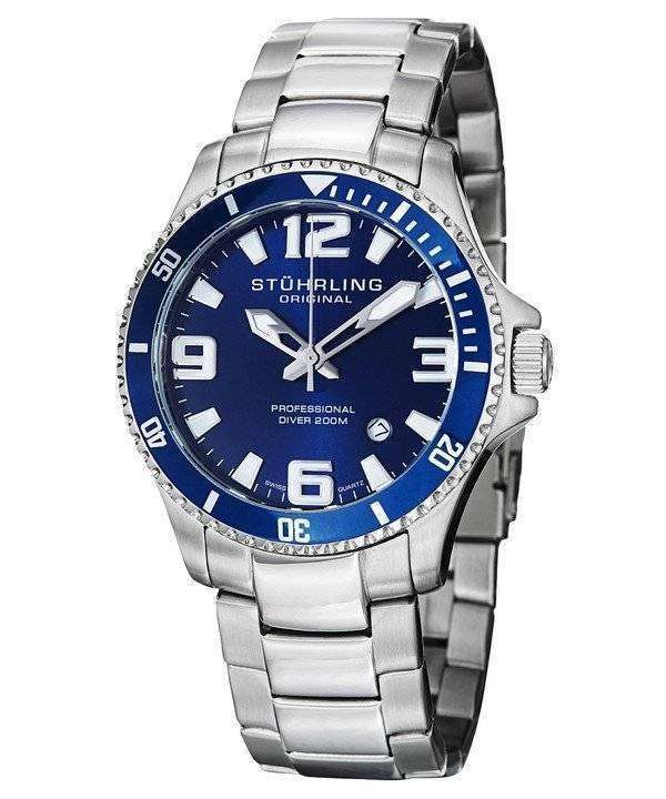 Stuhrling Original Aquadiver Regatta Champion Swiss Quartz 395.33U16 Mens Watch