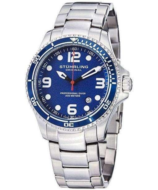 Stuhrling Original Aquadiver Specialty Grand Regatta Swiss Quartz HN593.33 Mens Watch