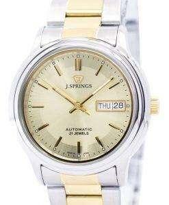 J.Springs 自動 21 宝石日本精工に作られた BEB525 メンズ腕時計