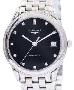 Longines Flagship Automatic Diamond Black Dial L4.774.4.57.6 Men's Watch