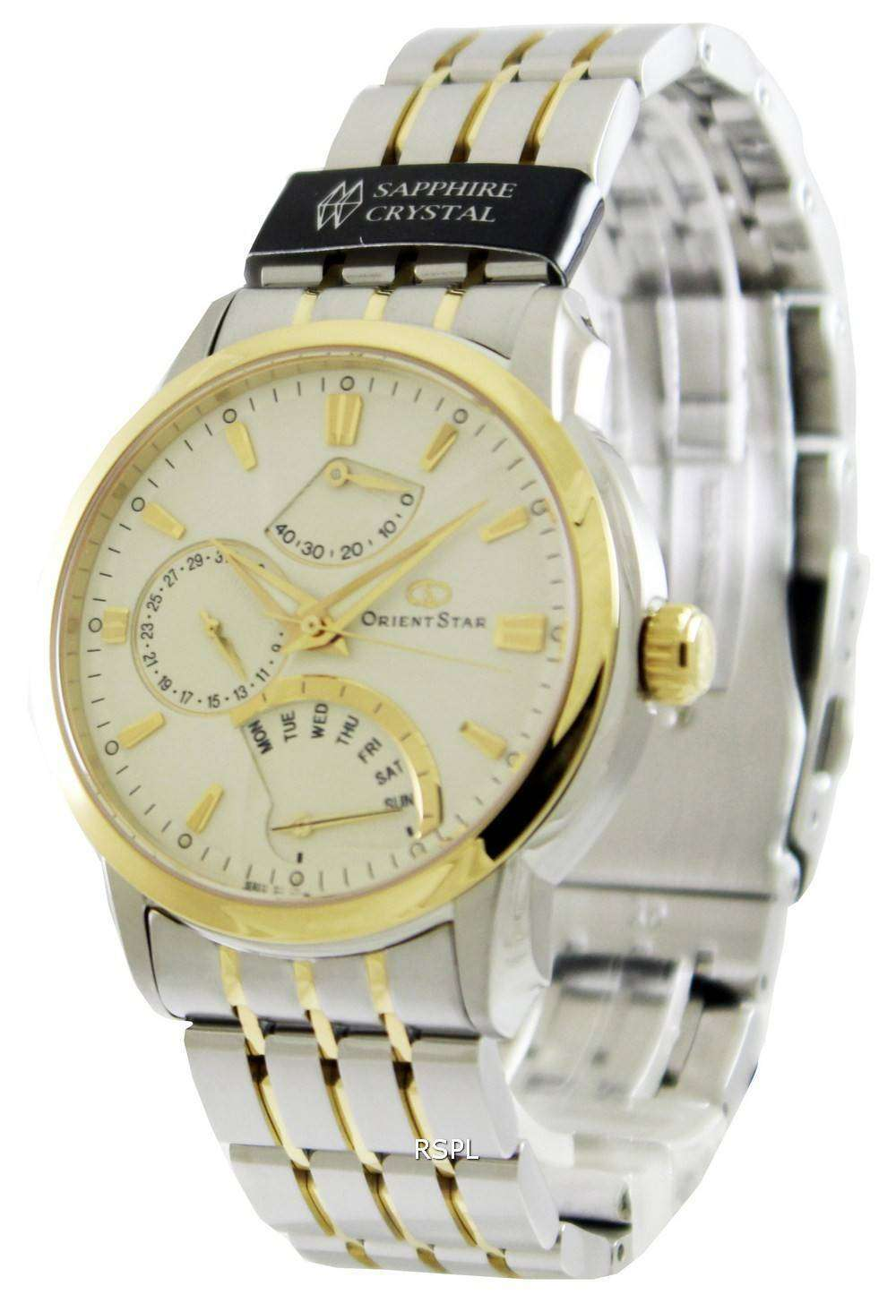 OrientStar Retrograde Power Reserve SDE00001W Mens Watch
