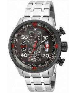 インビクタ飛行士クロノグラフ ガンメタル 17204 メンズ腕時計