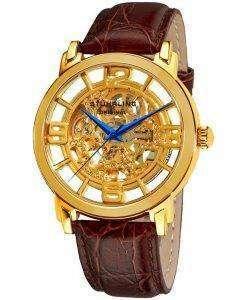 Stuhrling ウィンチェ スター グランド自動スケルトン ダイヤル 165B.3335K31 メンズ腕時計