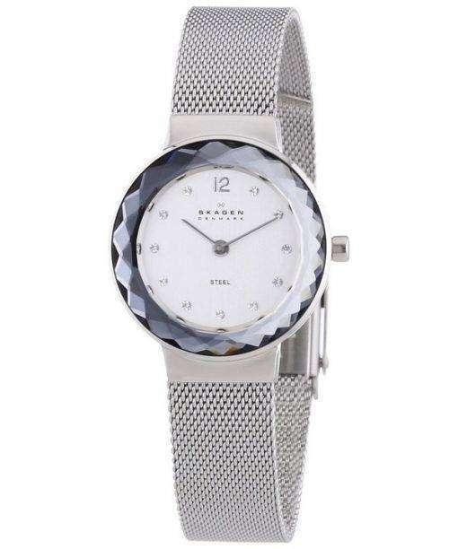 スカーゲン レオノーラ石英スチール メッシュ結晶 456SSS レディース腕時計