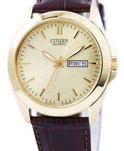市民水晶ゴールド トーン アナログ BF0582-01 P 男性用の腕時計