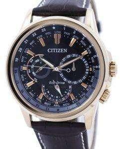 市民エコドライブ カランドリエ世界時間 BU2023 12E メンズ腕時計