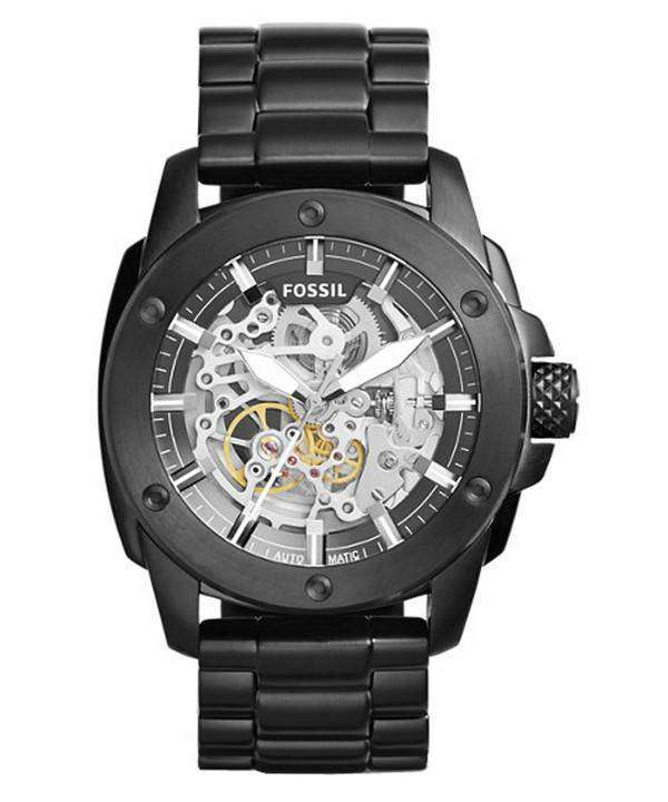 Fossil Modern Machine Automatic Skeleton Dial ME3080 Men's Watch: Rugged Yet Stylish