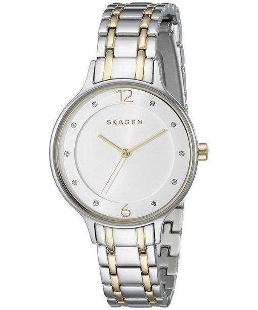 スカーゲン アニタ水晶 2 トーンの結晶 SKW2321 レディース腕時計