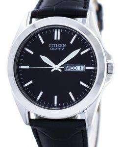 市民クオーツ ブラック ダイヤル BF0580 06E メンズ腕時計