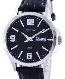 市民クオーツ ブラック ダイヤル BF2001 04E メンズ腕時計