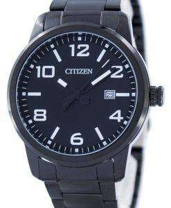 市民クオーツ ブラック ダイヤル BI1025 53E メンズ腕時計