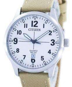 市民クオーツ ホワイト ダイヤル BI1050 05A メンズ腕時計