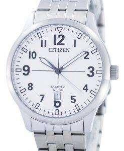 市民クオーツ ホワイト ダイヤル BI1050 81B メンズ腕時計