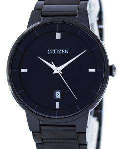市民クオーツ ブラック ダイヤル BI5017 50E メンズ腕時計