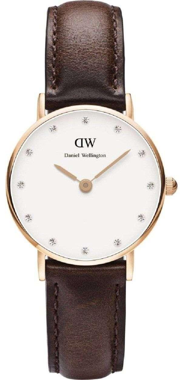 ダニエル ウェリントン上品なブリストル水晶アクセント DW00100062 (0903DW) レディース腕時計