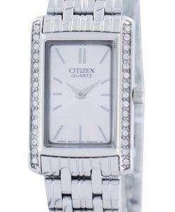 市民水晶スワロフ スキーのアクセント EK1120 55 a. レディース腕時計