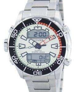 市民アクアランド プロマスター ダイバーズ 200 M アナログ デジタル JP1091-83 X メンズ腕時計