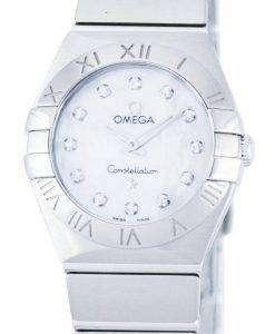 オメガ コンステレーション ダイヤモンド水晶アクセント パワー リザーブ 123.10.24.60.55.001 レディース腕時計