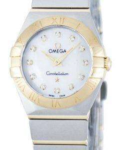 オメガ コンステレーション ダイヤモンド水晶アクセント パワー リザーブ 123.20.24.60.55.002 レディース腕時計