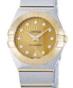 オメガ コンステレーション ダイヤモンド水晶アクセント パワー リザーブ 123.20.24.60.58.001 レディース腕時計