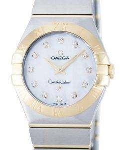 オメガ コンステレーション ダイヤモンド水晶アクセント パワー リザーブ 123.20.27.60.55.002 レディース腕時計