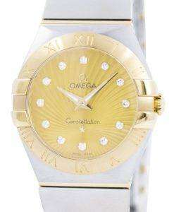 オメガ コンステレーション クォーツ ダイヤモンド アクセント 123.20.27.60.58.001 レディース腕時計