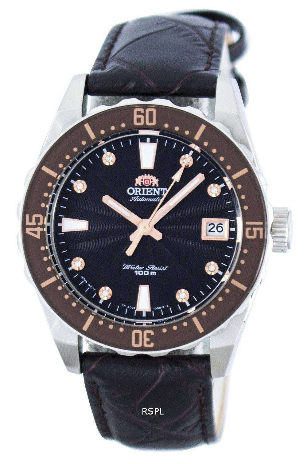オリエント自動結晶アクセント パワー リザーブ FAC0A005T0 レディース腕時計