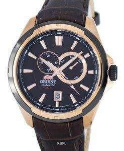 スポーティな自動パワー リザーブ FET0V001T0 メンズ腕時計をオリエントします。