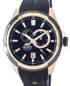 スポーティな自動パワー リザーブ FET0V002B0 メンズ腕時計をオリエントします。