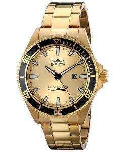 インビクタ Pro ダイバー ゴールド トーン水晶 15186 メンズ腕時計