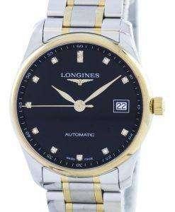 ロンジン マスター コレクション自動ダイヤモンド アクセント L2.518.5.57.7 メンズ腕時計
