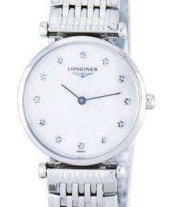 ロンジン ラ グランド クラシック クォーツ ダイヤモンド アクセント L4.209.4.87.6 レディース腕時計